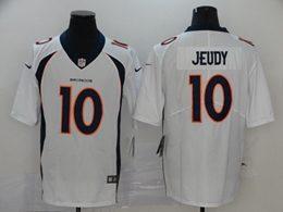 Mens Nfl Denver Broncos #10 Jerry Jeudy 2020 White Vapor Untouchable Limited Jersey