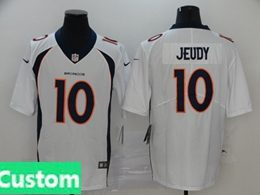Mens Women Youth Nfl Denver Broncos 2020 White Custom Made Vapor Untouchable Limited Jersey