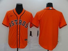 Mens Houston Astros Blank 2020 Orange Cool Base Nike Jersey