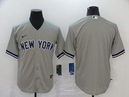 Mens Mlb New York Yankees 2020 Gray Blank Cool Base Nike Jersey