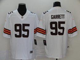 Mens Nfl Cleveland Browns #95 Myles Garrett 2020 White Vapor Untouchable Limited Jersey