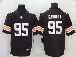Mens Nfl Cleveland Browns #95 Myles Garrett 2020 Brown Vapor Untouchable Limited Jersey