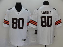 Mens Nfl Cleveland Browns #80 Jarvis Landry 2020 White Vapor Untouchable Limited Jersey