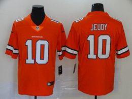 Mens Nfl Denver Broncos #10 Jerry Jeudy 2020 Orange Color Rush Vapor Untouchable Limited Jersey