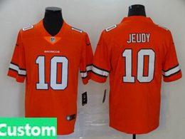 Mens Women Youth Nfl Denver Broncos 2020 Orange Custom Made Color Rush Vapor Untouchable Limited Jersey