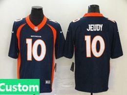Mens Women Youth Nfl Denver Broncos 2020 Blue Custom Made Vapor Untouchable Limited Jersey