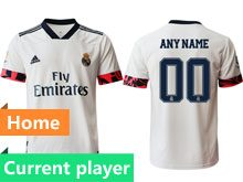 Mens 20-21 Soccer Real Madrid Club Current Player White Home Thailand Short Sleeve Jersey