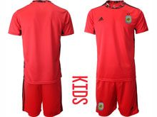 Youth 20-21 Soccer Argentina National Team ( Custom Made ) Red Goalkeeper Short Sleeve Suit Jersey