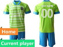 Mens 20-21 Soccer Seattle Sounders Club Current Player Green Home Short Sleeve Suit Jersey
