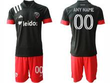 Mens 20-21 Soccer D.c. United Club ( Custom Made ) Black Home Short Sleeve Suit Jersey