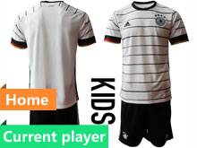 Youth Soccer Germany Ntaional Team Current Player White 2020 European Cup Home Short Sleeve Suit Jersey