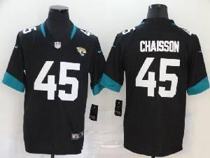 Mens Nfl Jacksonville Jaguars #45 K'lavon Chaisson Black Vapor Untouchable Limited Jersey