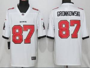 Mens Nfl Tampa Bay Buccaneers #87 Rob Gronkowski White 2020 Vapor Untouchable Limited Jersey