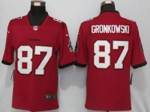 Mens Nfl Tampa Bay Buccaneers #87 Rob Gronkowski Red 2020 Vapor Untouchable Limited Jersey