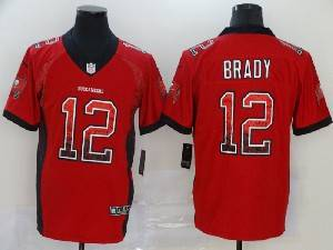 Mens Nfl Tampa Bay Buccaneers #12 Tom Brady Red Drift Fashion Vapor Untouchable Limited Jersey