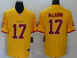 Mens Nfl Washington Redskins #17 Terry Mclaurin 2020 Yellow Color Rush Vapor Untouchable Limited Jerseys