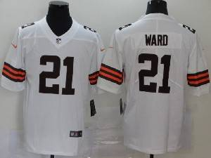 Mens Nfl Cleveland Browns #21 Denzel Ward 2020 White Nike Vapor Untouchable Limited Jersey