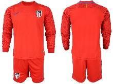 Mens 20-21 Soccer Usa National Team ( Custom Made ) Red Goalkeeper Long Sleeve Suit Jersey