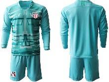 Mens 20-21 Soccer Usa National Team ( Custom Made ) Blue Goalkeeper Long Sleeve Suit Jersey