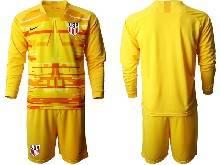 Mens 20-21 Soccer Usa National Team ( Custom Made ) Yellow Goalkeeper Long Sleeve Suit Jersey