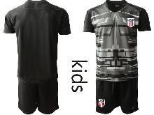Youth 20-21 Soccer Usa National Team ( Custom Made ) Black Goalkeeper Short Sleeve Suit Jersey