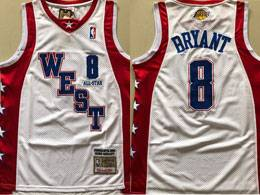 Mens 2004 All Star Nba Los Angeles Lakers #8 Kobe Bryant White Mitchell&ness Swingman Hardwood Classics Jersey