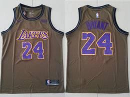 Mens Nba Los Angeles Lakers #24 Kobe Bryant Brown Nike Swingman Jersey