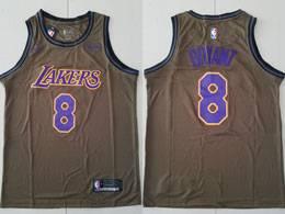 Mens Nba Los Angeles Lakers #8 Kobe Bryant Brown Nike Swingman Jersey