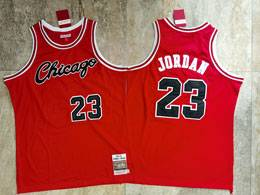 Mens Nba Chicago Bulls #23 Michael Jordan Red 1984-85 Mitchell&ness Hardwood Classics Jersey