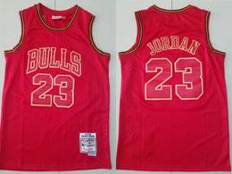 Mens Nba Chicago Bulls #23 Michael Jordan Red Number 1997-98 Mitchell&ness Hardwood Classics Jersey