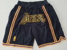 Mens Nba Los Angeles Lakers Black Nike Just Do Pocket Shorts