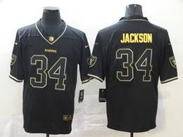 Mens Nfl Oakland Raiders #34 Bo Jackson Black Golden Vapor Untouchable Limited Jersey