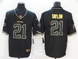 Mens Nfl Washington Redskins #21 Sean Taylor Black Golden Vapor Untouchable Limited Jersey