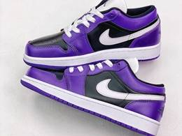 Mens And Women Nike Air Jordan 1 Low Running Shoes Purple Color