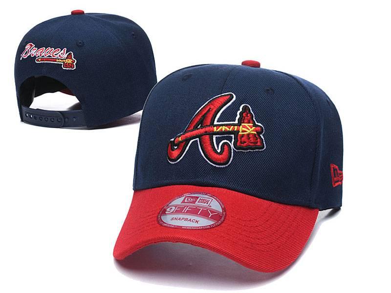 Mens Mlb Atlanta Braves Fashion Snapback Adjustable Curved Hats Blue