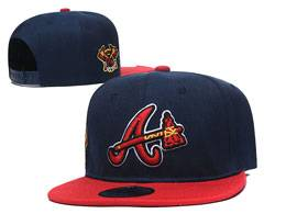 Mens Mlb Atlanta Braves Dark Blue And Red Snapback Adjustable Flat Hats 4 Style