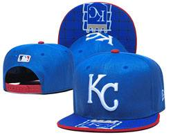 Mens Mlb Kansas City Royals Blue Snapback Adjustable Flat Hats