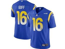 Mens Nfl Los Angeles Rams #16 Jared Goff 2020 Blue Vapor Untouchable Limited Jersey