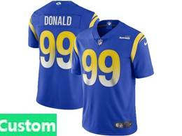 Mens Women Youth Nfl Los Angeles Rams 2020 Blue Custom Made Vapor Untouchable Limited Jersey