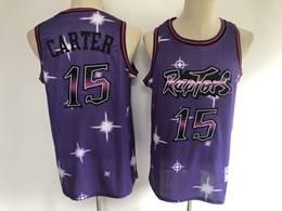 Mens Nba Toronto Raptors #15 Vince Carter 2020 Purple Starry Mitchell&ness Swingman Hardwood Classics Jersey