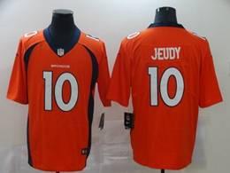 Mens Nfl Denver Broncos #10 Jerry Jeudy 2020 Orange Vapor Untouchable Limited Jersey