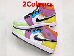 Mens And Women Nike Air Jordan 1 Mid Running Shoes 2 Colors