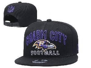 Mens Nfl Baltimore Ravens Black Team Patch City Name Snapback Adjustable Flat Hats