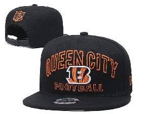 Mens Nfl Cincinnati Bengals Black Team Patch City Name Snapback Adjustable Flat Hats
