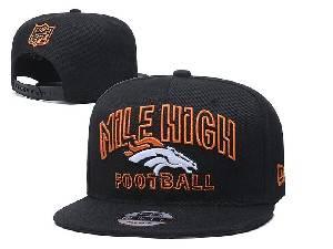 Mens Nfl Denver Broncos Black Team Patch City Name Snapback Adjustable Flat Hats