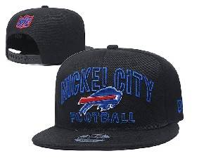 Mens Nfl Buffalo Bills Black Team Patch City Name Snapback Adjustable Flat Hats