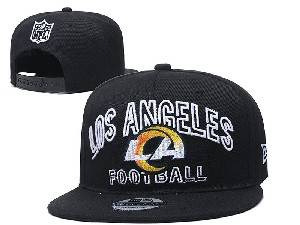 Mens Nfl Los Angeles Rams Black Team Patch City Name Snapback Adjustable Flat Hats