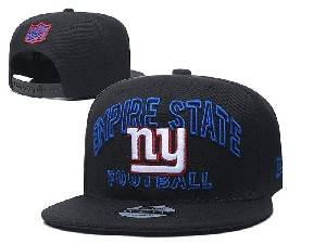 Mens Nfl New York Giants Black Team Patch City Name Snapback Adjustable Flat Hats