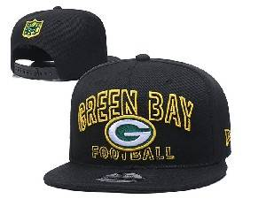 Mens Nfl Green Bay Packers Black Team Patch City Name Snapback Adjustable Flat Hats