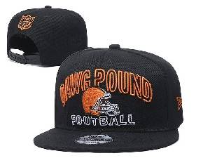 Mens Nfl Cleveland Browns Black Team Patch City Name Snapback Adjustable Flat Hats